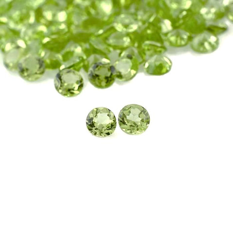 natural peridot round cut 2mm gemstone from Brazil