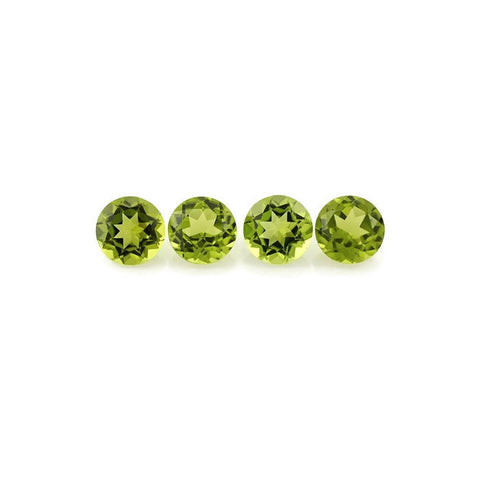 Beautiful natural peridot round cut 6mm gemstone