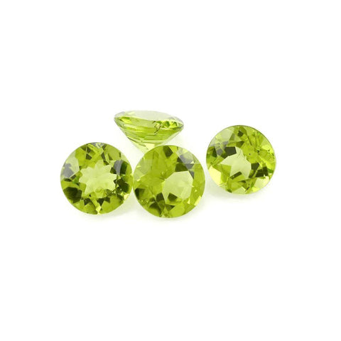 peridot green round cut 3mm gemstone from Brazil
