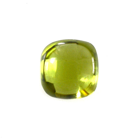 Peridot cushion cut cabochon 7mm natural gemstone