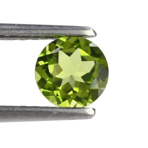 Peridot green round cut 8mm loose gemstone