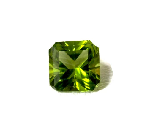 Peridot green octagon square cut 8mm natural loose gemstone