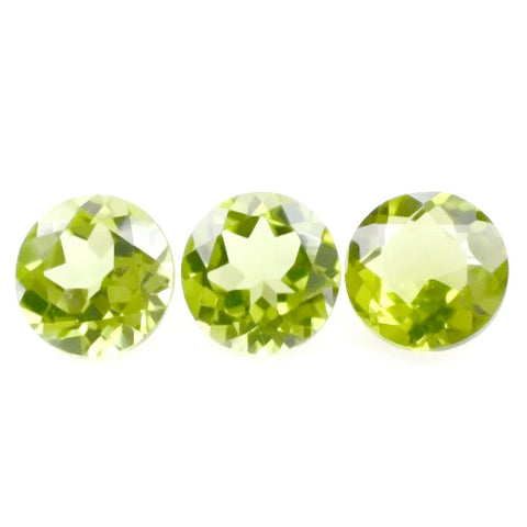 peridot round cut 2.5mm loose gemstone