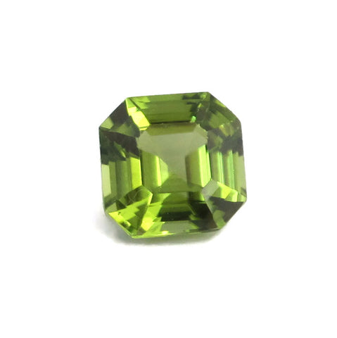 Peridot asscher square cut - 7 mm