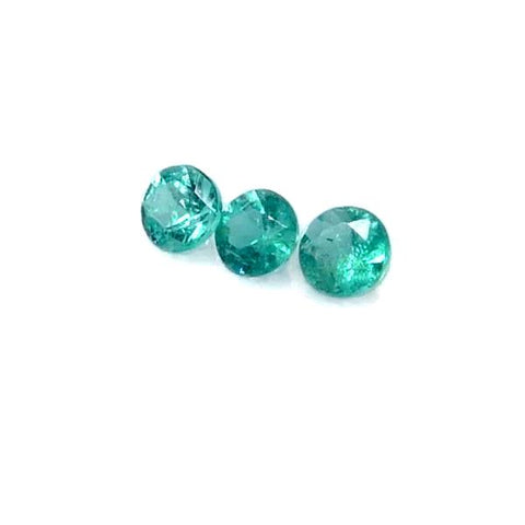 paraiba tourmaline round cut 2mm loose gemstone