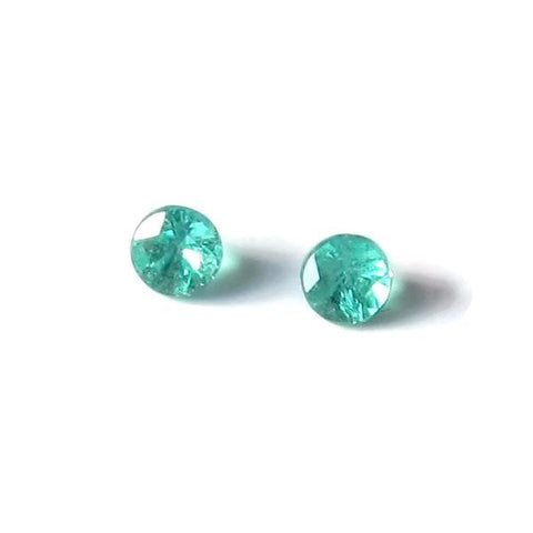 paraiba tourmaline round cut 1.95mm 2 gemstones