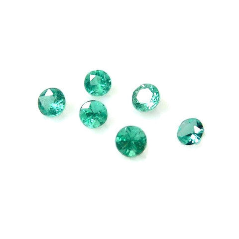 natural paraiba tourmaline round cut 1.75mm gemstones from Brazil