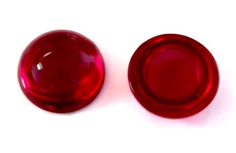 natural ruby round cut cabochon 4.5mm loose gemstone