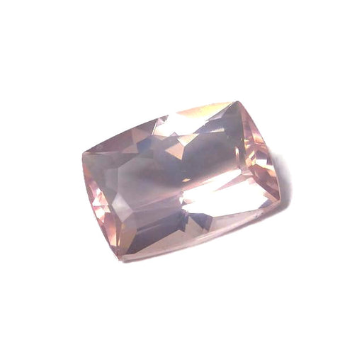 Rose Quartz - Emerald / Octagon Shape - 22 x 16 mm
