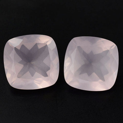 rose quartz cushion cut 10mm loose gemstone