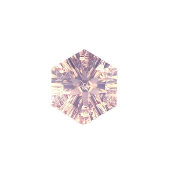 natural rose quartz hexagon concave cut 12mm gemstone