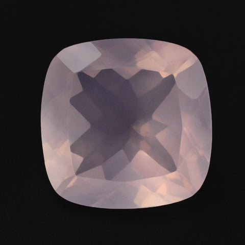 rose quartz cushion cut 12mm loose gemstone