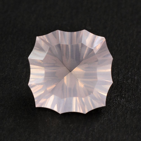 natural rose quartz cushion concave cut 12mm loose stone