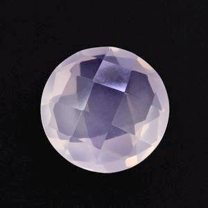 Rose quartz round cut - 10mm (checkerboard cabochon)