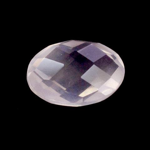 rose quartz oval checkerboard cabochon 14x10mm loose gemstone