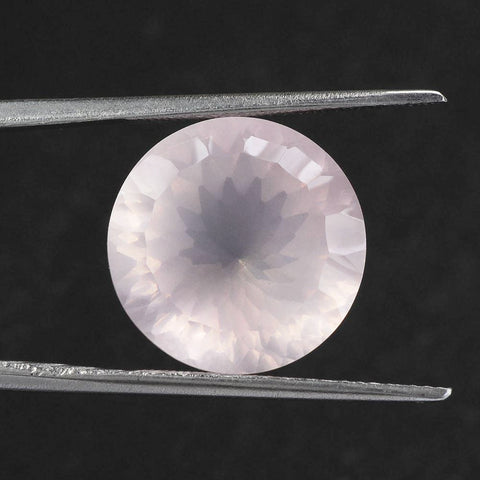 rose quartz round concave cut 12mm loose gemstone