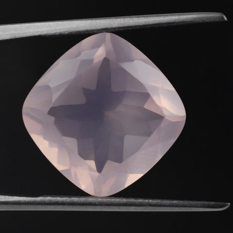 rose quartz cushion cut 8mm loose gemstone