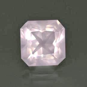 rose quartz octagon cut 8mm genuine jewel