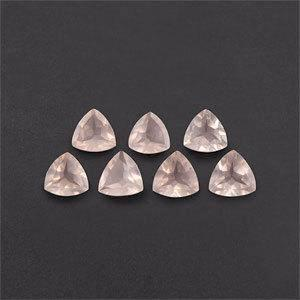 Rose Quartz trillion cut - 8mm
