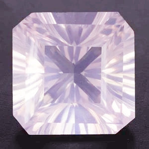 rose quartz pink asscher octagon cut 10mm loose gemstone