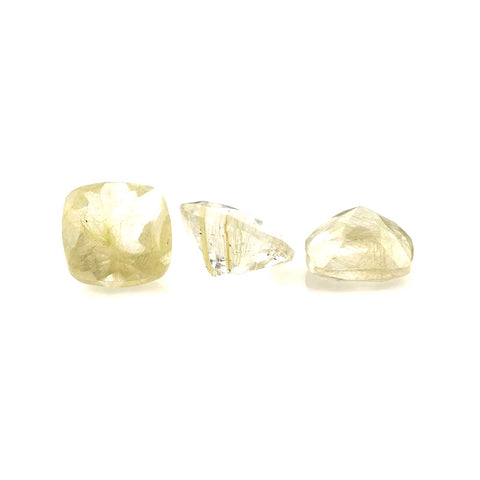 natural golden rutile quartz cushion cut 8mm gemstone