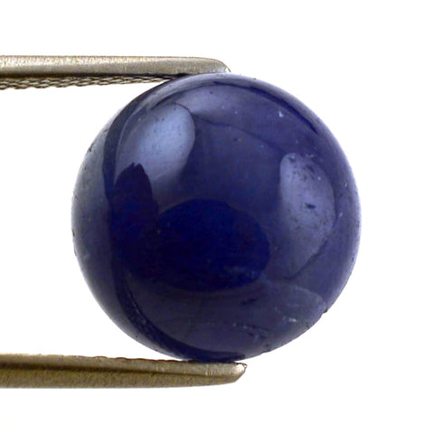 natural sapphire cabochon round cut 6mm gemstone