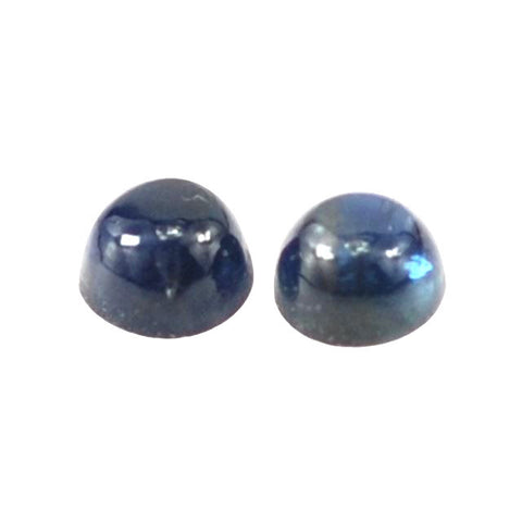 Sapphire cabochon round cut - 5 mm