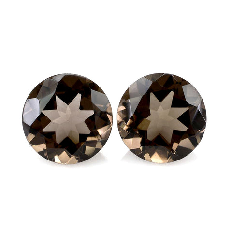 Natural smoky quartz round cut 2mm gemstone
