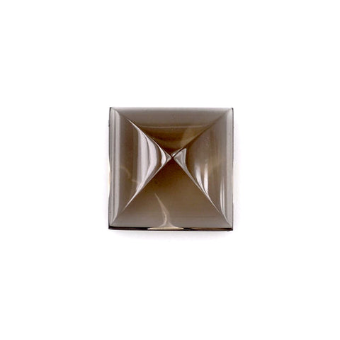 natural smokey quartz square pyramid cut cabochon 10mm gemstone