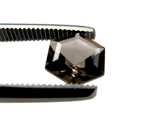 smoky quartz hexagon step-cut 6mm loose stones