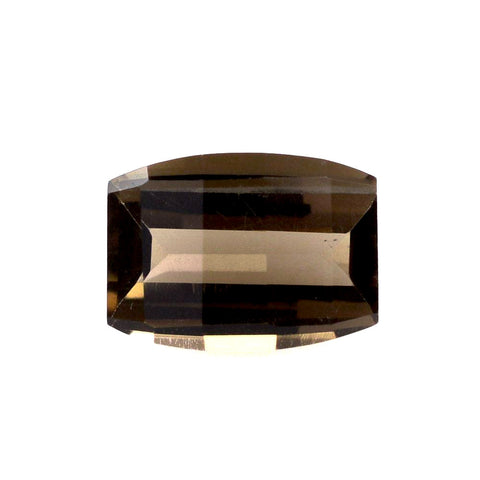 smoky quartz barrel cut 14x10mm loose gemstone