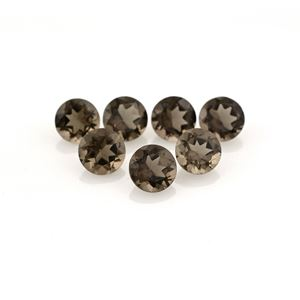 smoky quartz round cut 1.5mm loose gemstone