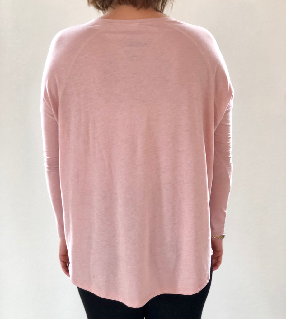 Ramble Raglan Top Rose Water