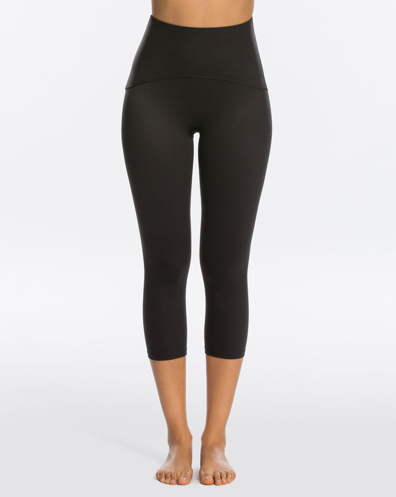 Shaping Compression Crop Black