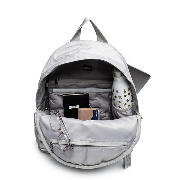 Puffy Round Backpack Silver Grey