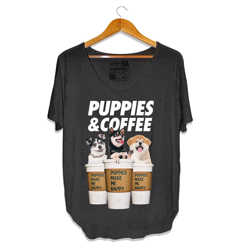 Puppies&Coffee Tee Charcoal