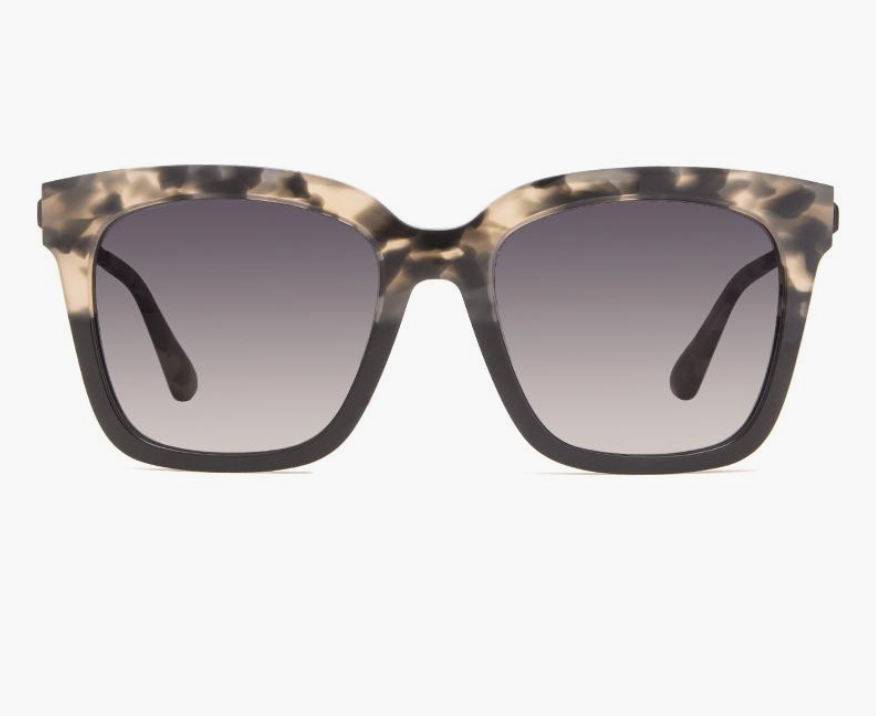 Bella Square Sunglasses Grey Fade