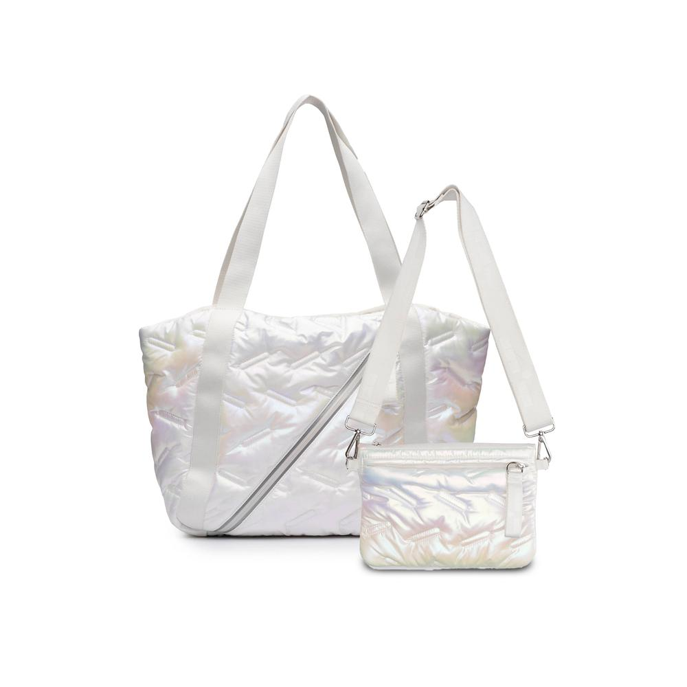 Easy Tote White Iridescent