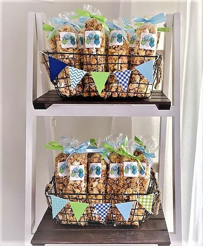 Birthday Party Popcorn Favors Display