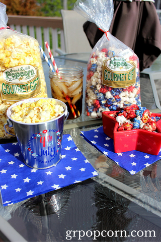 Butter Popcorn and Americana Popcorn for 4th of July