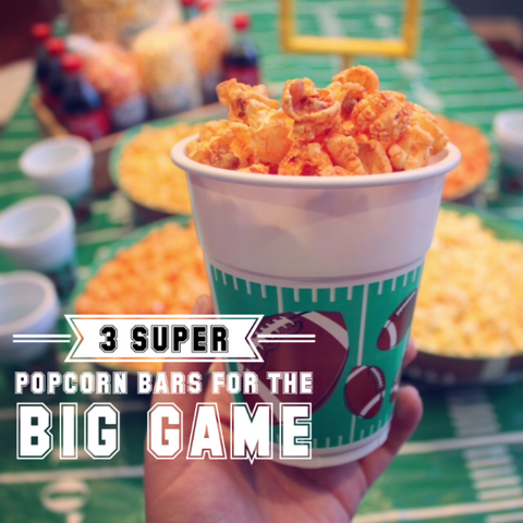 Popcorn Bar Ideas for the Big Game
