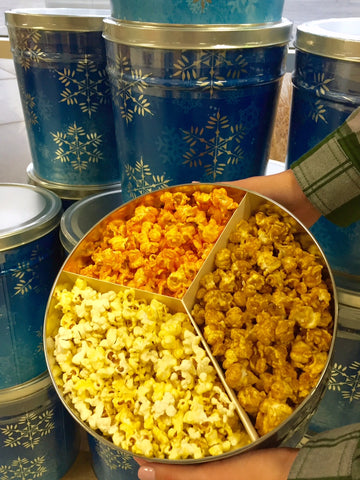 Holiday Popcorn Tin