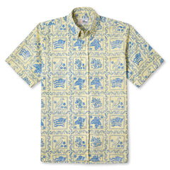 Reyn Spooner Lahaina Sailor Fit Hawaiian Shirt in YELLOW