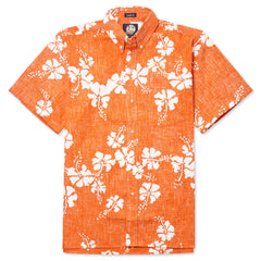 Reyn Spooner 50th State Flower Hawaiian Shirt in ORANGE