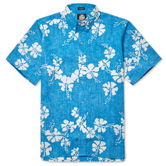 Reyn Spooner 50th State Flower Hawaiian Shirt in SKY