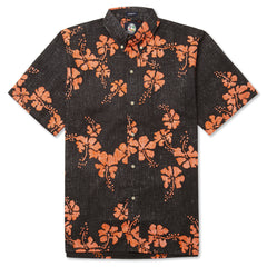 Reyn Spooner 50th State Flower Hawaiian Shirt in BLACK