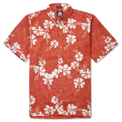 Reyn Spooner 50th State Flower Hawaiian Shirt in CARDINAL