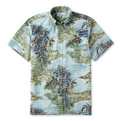 Reyn Spooner Diamond Head Hawaiian Shirt in PALE BLUE