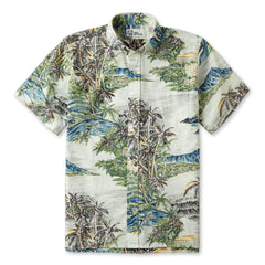 Reyn Spooner Diamond Head Hawaiian Shirt in SAND
