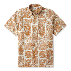 Reyn Spooner Forest Tapa Hawaiian Shirt in MANGO